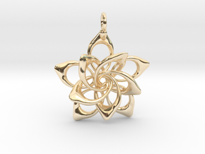 Petal Rings 5 Points - 2 Tiers - 3cm - wLoopet in 14K Yellow Gold