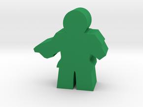 Game Piece, Imperial Republic Commander, pistol in Green Processed Versatile Plastic