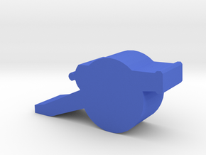 Game Piece, Field Cannon in Blue Processed Versatile Plastic