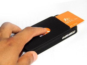 Business Card Iphone Cover in Black Natural Versatile Plastic
