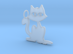 Kitty Pendant in Smooth Fine Detail Plastic