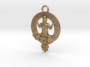 Murray Clan Crest key fob in Polished Gold Steel