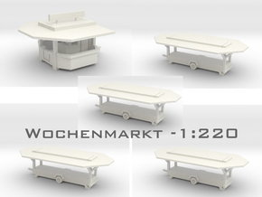 Wochenmarkt - 1:220 (Z scale) in White Natural Versatile Plastic
