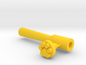 Paw And Tool in Yellow Processed Versatile Plastic