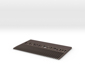 Comb Card - Pocket Comb in Polished Bronzed Silver Steel