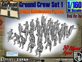 1-160 German Ground Crew SET 1 in Smooth Fine Detail Plastic