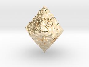 ELDRITCH ROUGH d00 in 14k Gold Plated Brass