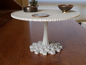 1:12 scale miniature industrial art table in Metallic Plastic