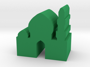 Game Piece, Arabic Temple, Palace in Green Processed Versatile Plastic