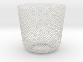 Sine Basket in White Natural Versatile Plastic