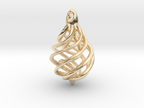 DNA Teardrop Pendant in 14K Yellow Gold