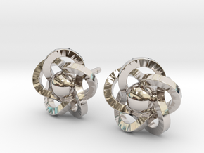 Flower Earrings in Platinum