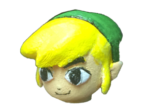 Custom Toon Link Inspired Head for Lego in White Natural Versatile Plastic