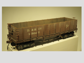 S Scale 1/64 D & H 5 board hopper 1890 05022014 in Frosted Ultra Detail