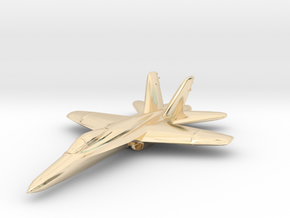 F18e Jet Aircraft  - Monopoly Metal Model in 14K Yellow Gold