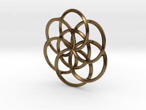 Seed of Life - 4.6cm in Natural Bronze