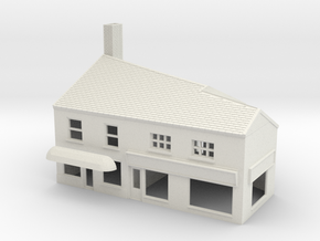 HHS-10 N Scale Honiton High street building 1:148 in White Strong & Flexible