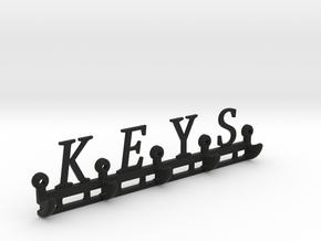 Key Rack in Black Natural Versatile Plastic
