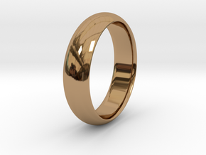 Wedding ring in Polished Brass