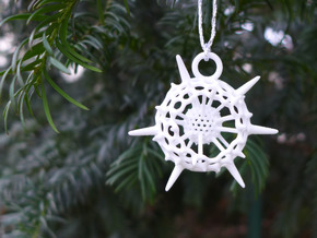 Spumellaria Ornament - Science Gift in White Strong & Flexible Polished