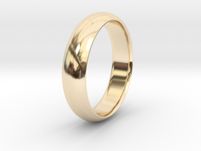 Wedding ring in 14K Yellow Gold