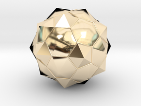 Truncated Icosahedron - aka Football in 14K Yellow Gold