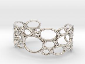 Bracelet Bubble in Rhodium Plated Brass