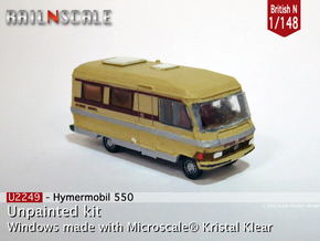 Hymermobil 550 (British N 1:148) in Smooth Fine Detail Plastic