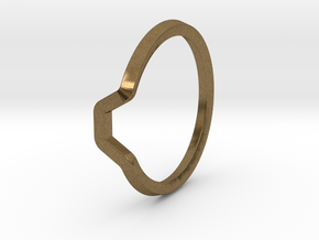 BETTER HALF Ring(HEXAGON), US size 3, d=14mm  in Natural Bronze: 3 / 44