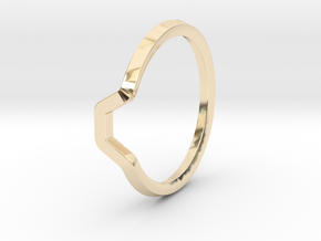 BETTER HALF Ring(HEXAGON), US size 3, d=14mm  in 14k Gold Plated Brass: 3 / 44