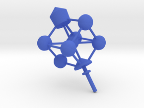 Dreidel Crystal Structure in Blue Processed Versatile Plastic