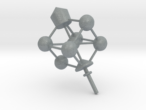 Dreidel Crystal Structure in Polished Metallic Plastic