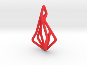 N-Line No.1 Pendant. Natural Chic in Red Processed Versatile Plastic