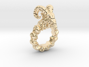 Ram Ring in 14k Gold Plated Brass