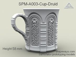 SPM-A003-Cup-Druid in Polished Silver