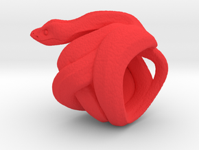 Snake No.2 in Red Processed Versatile Plastic