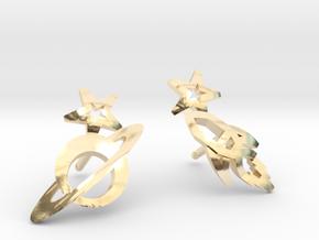 Earrings - Rocket beyond Barriers in 14K Yellow Gold