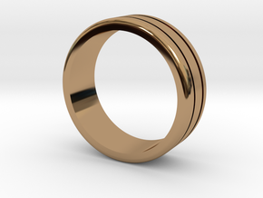 Classic wedding ring in Polished Brass