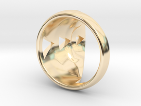 Curved Claw Ring in 14k Gold Plated Brass