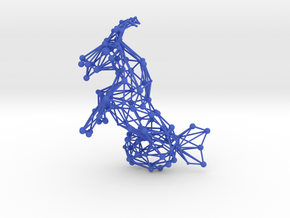 Capricorn Constellation Wireworks - 4cm in Blue Processed Versatile Plastic