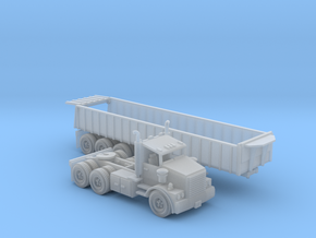 Semi With Trash Trailer Z Scale in Smooth Fine Detail Plastic