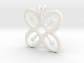 BESE SAKA Symbol Jewelry Pendant in White Processed Versatile Plastic