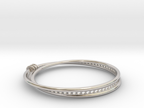 Möbius Snake Bracelet (Small) in Platinum