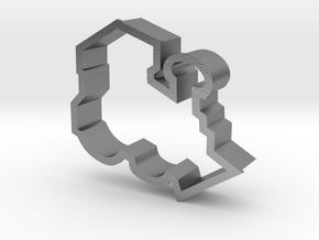 Train Engine Cookie Cutter in Natural Silver