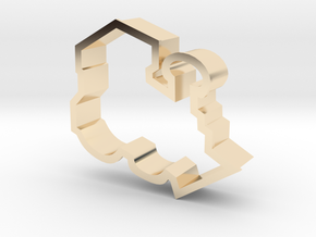 Train Engine Cookie Cutter in 14K Yellow Gold