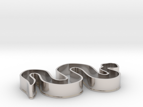Snake Cookie Cutter in Rhodium Plated Brass