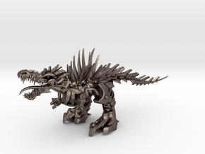 """Raptor V2 3 - Mega XXL (406 cm - 16"""" long) in Polished Bronzed Silver Steel"""