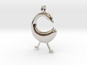 SANKOFA Symbol Jewelry Pendant in Platinum