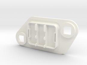 Cagiva Elefant Fuse Cap in White Processed Versatile Plastic