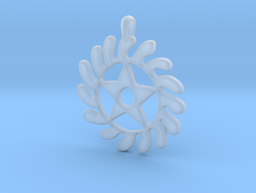 SESA WO SUBAN Symbol Jewelry Pendant in Smooth Fine Detail Plastic